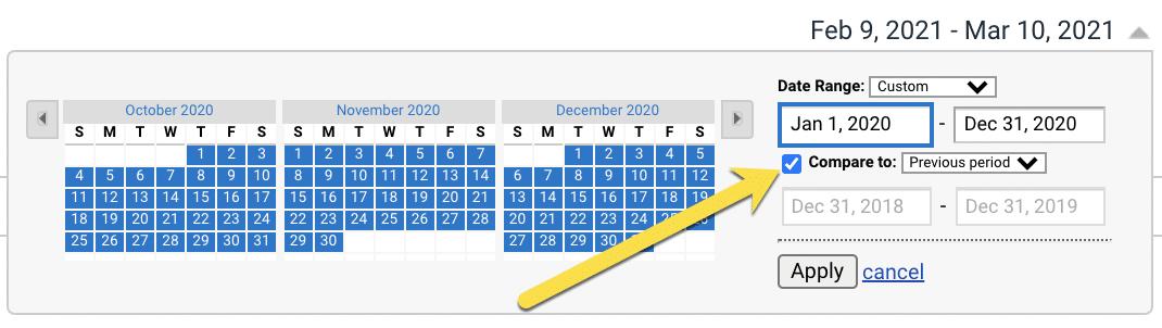Date range comparison
