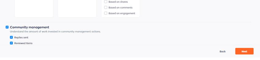screenshot of community management