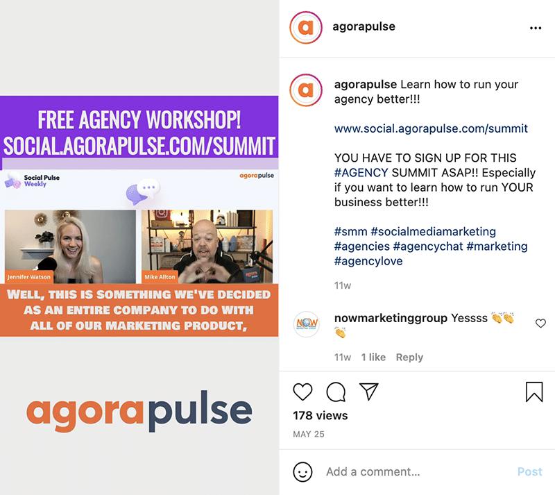 Agorapulse Instagram Reels