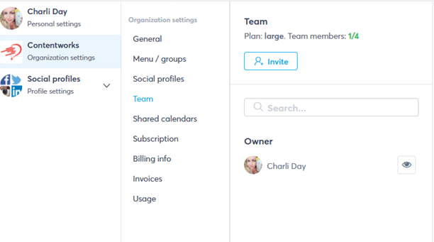 team roles in social media channels