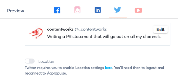 preview of social media example