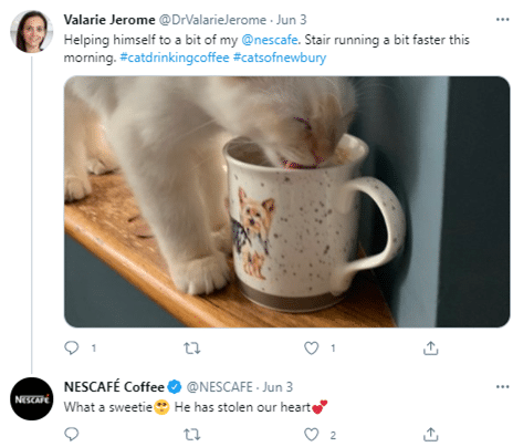 example of social media being social