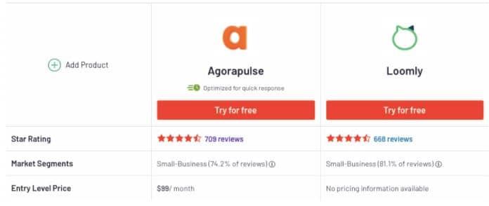 agorapulse vs loomly