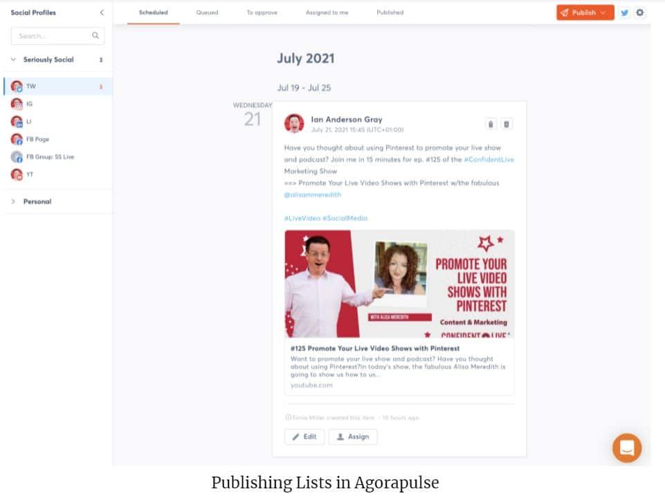 publishing list