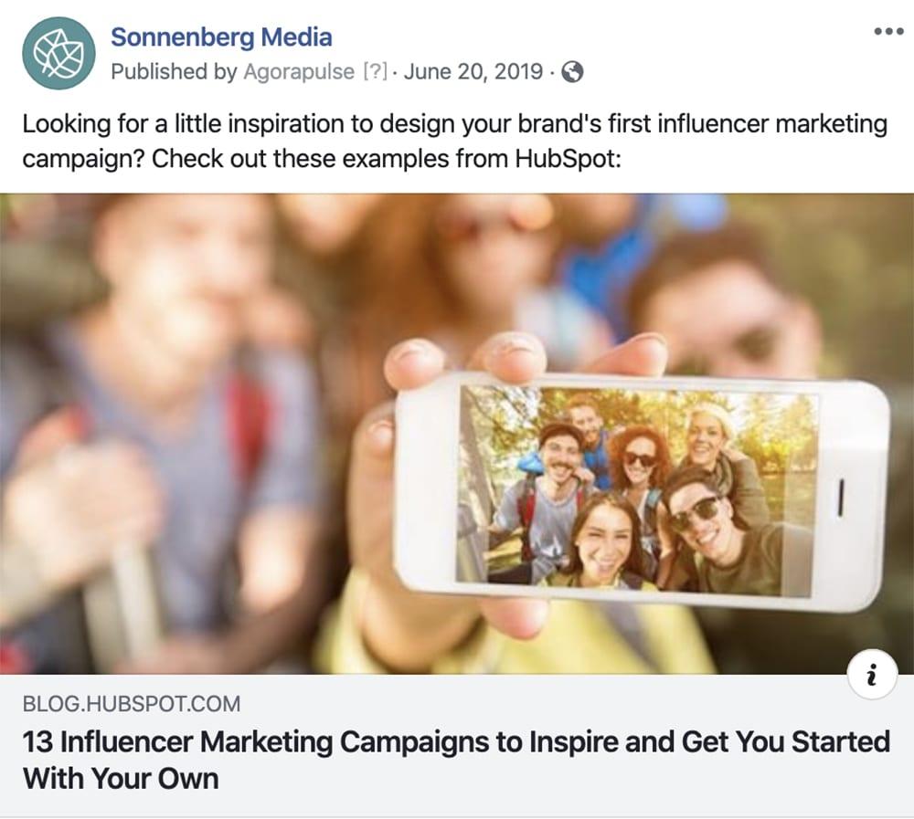 social media management influencer