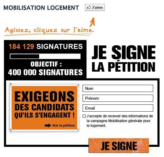 La aplicación de petición Agorapulse Facebook solicita a los usuarios que sigan la página, que firmen la petición y que inviten a sus amigos a firmar.