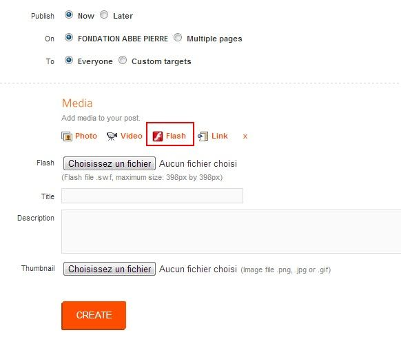 Utilizamos la aplicación Agorapulse para publicar el módulo de firma directamente en la página de la fuente de noticias. Arriba, una captura de pantalla de la interfaz de publicación de la plataforma.