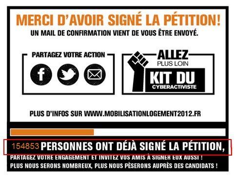 Al final de la campaña, la petición contaba con casi 155.000 firmas, de las cuales casi la mitad provinieron de Facebook.