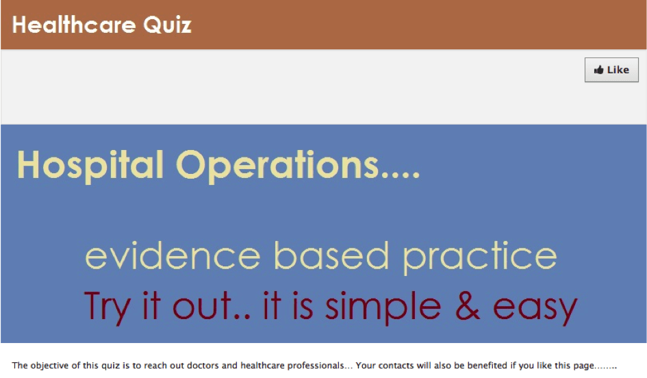 3 Healthcare quiz
