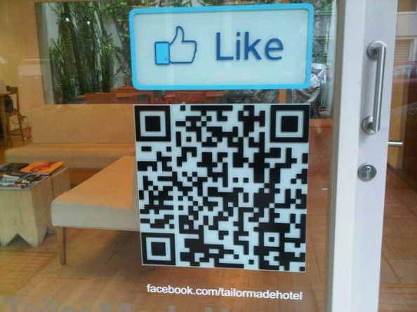 Facebook like QR