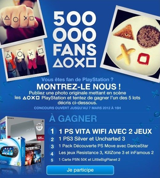 Facebook Playstation photo contest