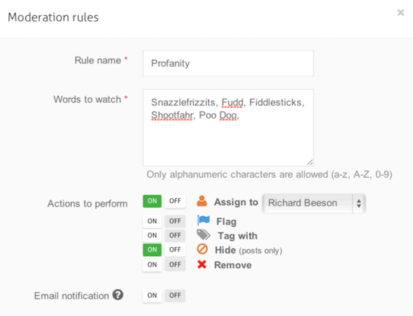 facebook tips for business automatic moderation rules
