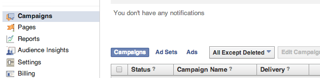 Ads Manager Campaigns