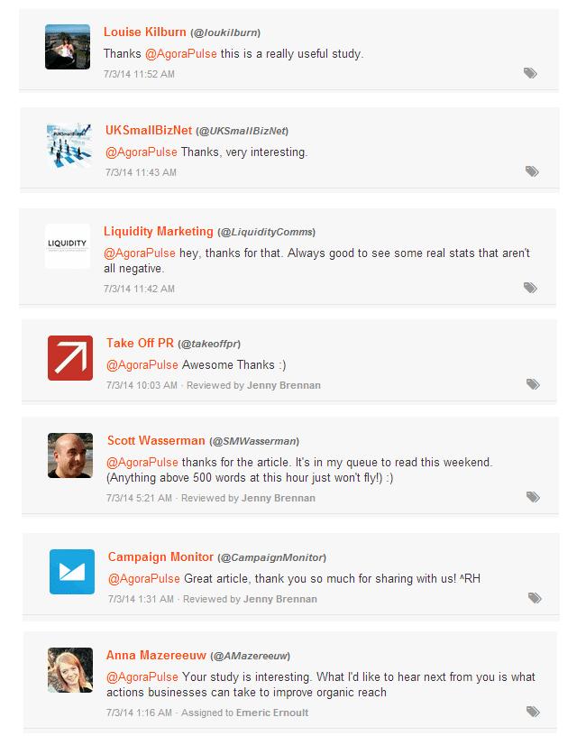twitter engagement positive feedback