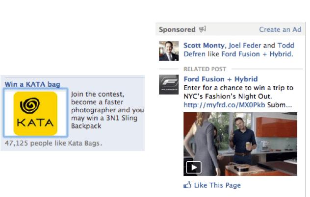 2 - ejemplos de anuncios en Facebook