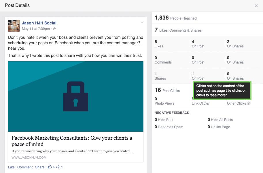 """Lo que """"Otros Clics"""" en las Estadísticas de Facebook significan"""