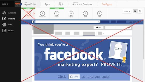 Facebook like gate disappears on Agorapulse apps.