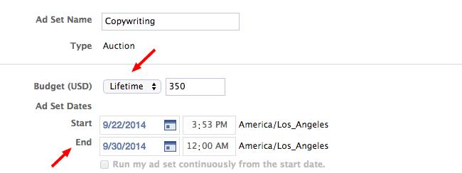 Facebook Ads Tips - dayparting presupuesto y duración de tu campaña