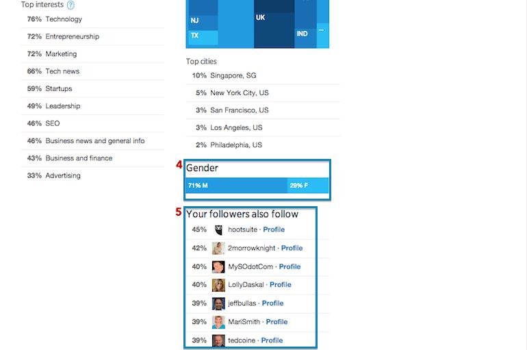 Twitter Analytics - Segundo Panel de Seguidores