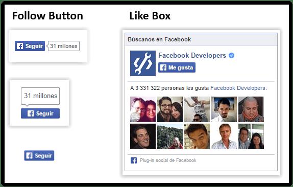 conseguir me gusta en facebook - like box