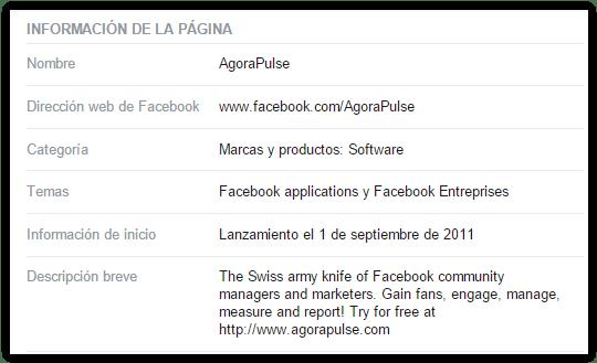 consigue me gusta en facebook - informacion de la fanpage
