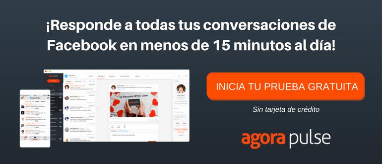 responde a todas tus conversaciones de Facebook en menos de 15 minutes al dia