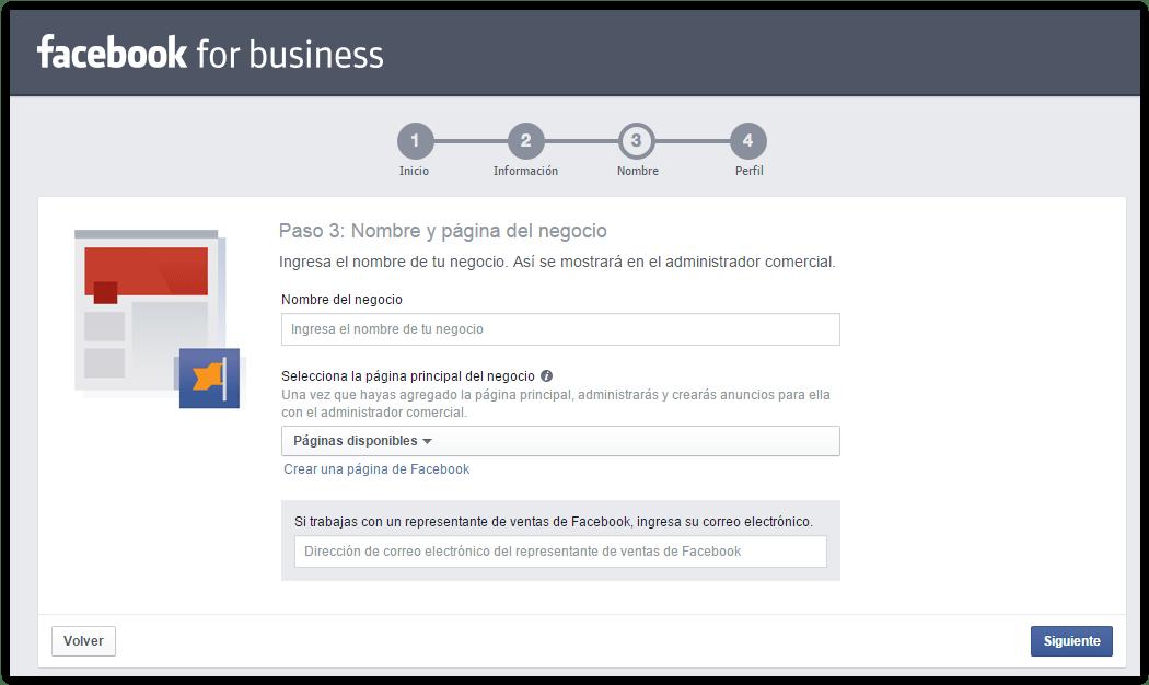 Pasos para crear una cuenta en Business Manager Facebook