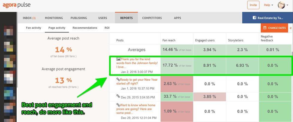 administrar redes sociales herramienta de analytics Agorapulse
