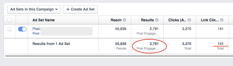 Facebook-ad-campaign-with-Page-Post-Engagement-objective-example