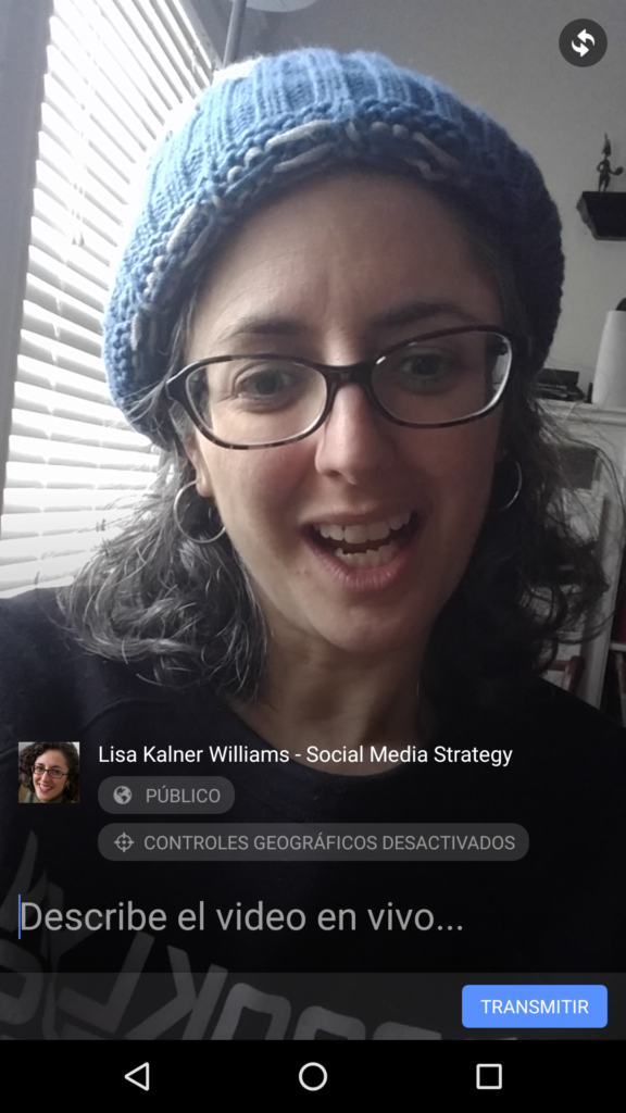 facebook en vivo ejemplo