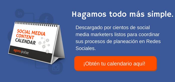 Social Media Content Calendar Spanish