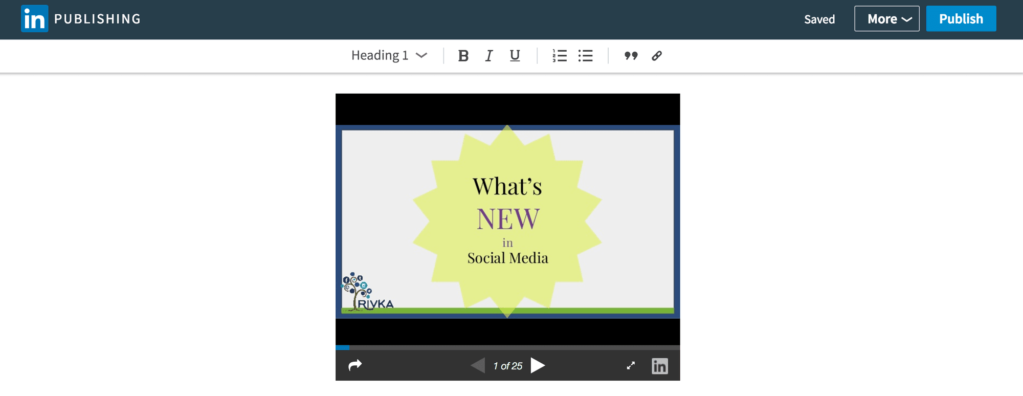 LinkedIn Publishing Slides with Slideshare