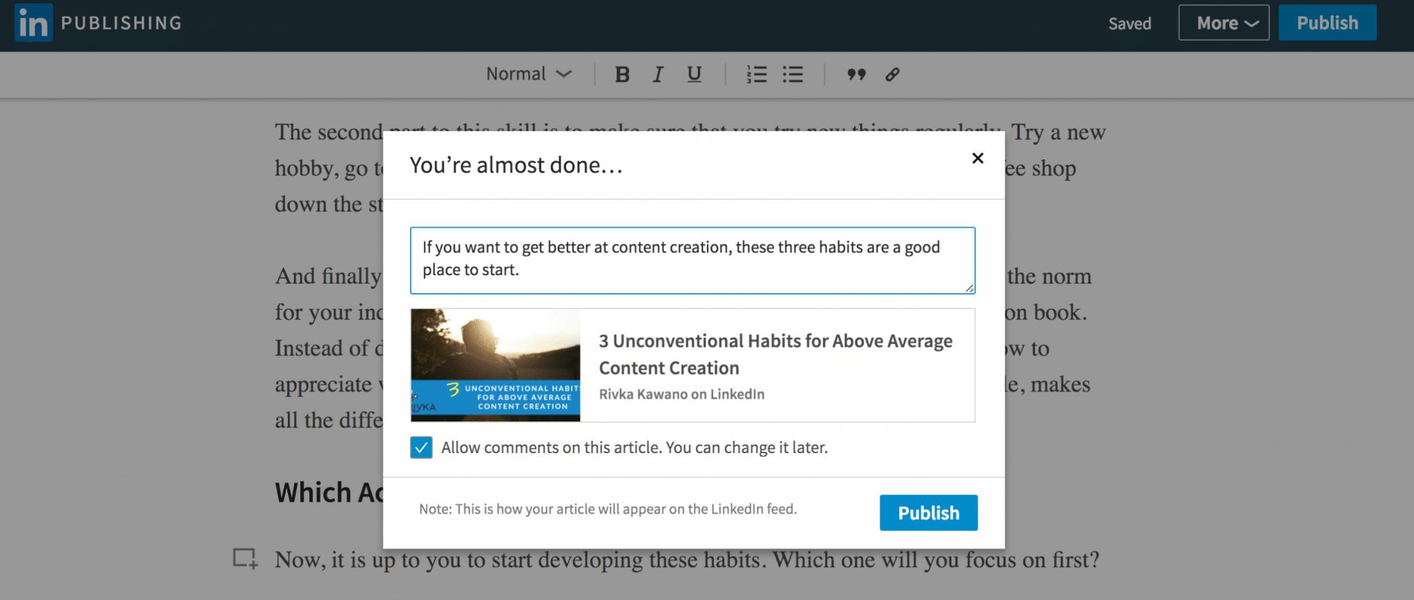 LinkedIn Publishing Tips