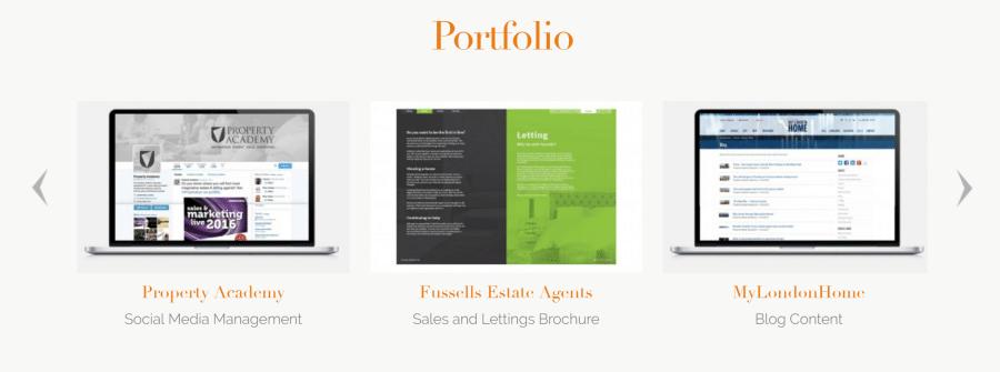social media agency portfolio