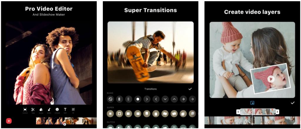 pantalla de iPhone mostrando la aplicación InShot