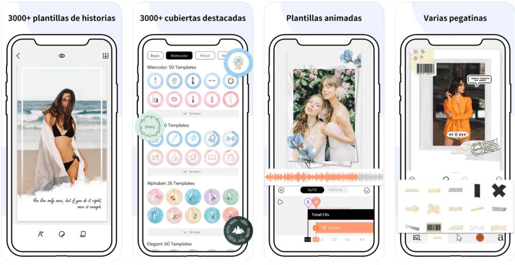 pantalla de iPhone dando información sobre Story Art