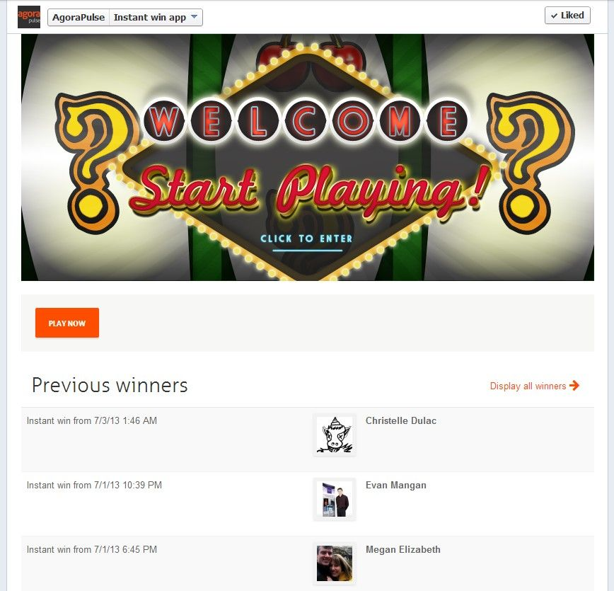 Utiliser une application qui affiche automatiquement les gagnants permettra à vos fans de suivre le déroulement du jeu en temps réel et d'avoir la certitude qu'il y a de véritables gagnants.
