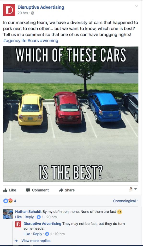 4.post facebook question