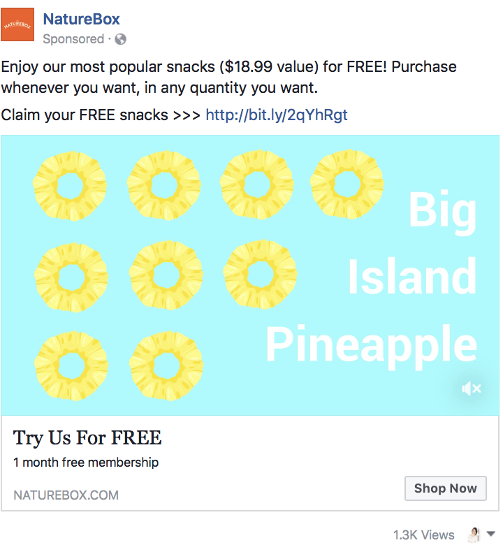 8.post facebook offre