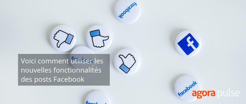 facebook fonctionnalités