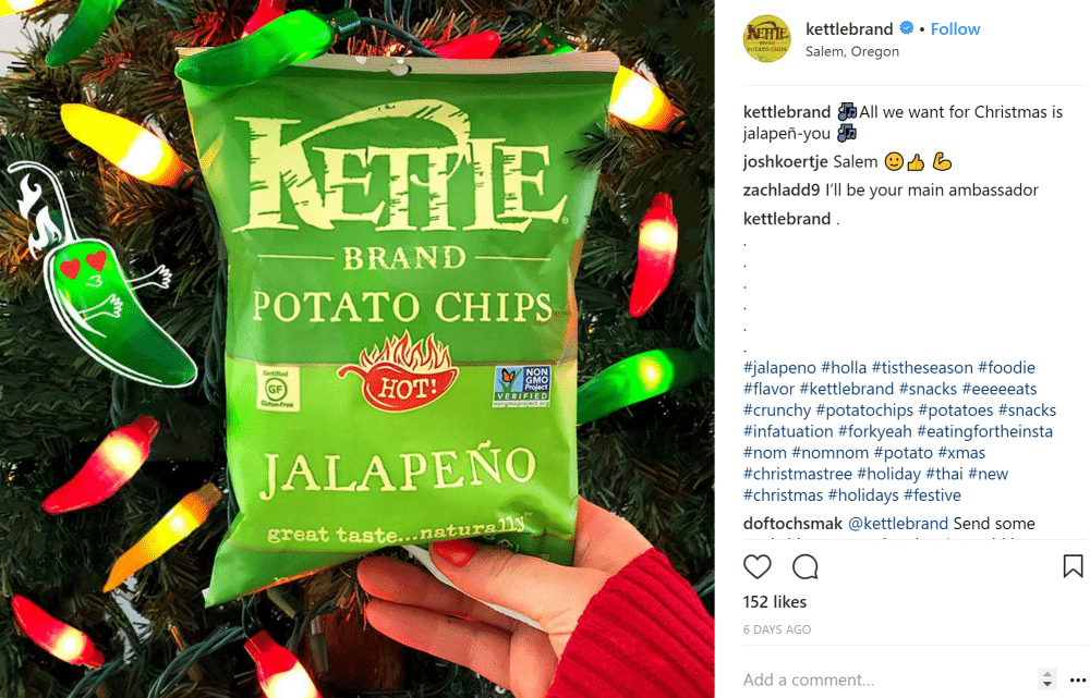 kettle chips instagram