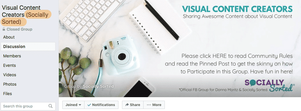 Visual Content Creators (Socially Sorted)