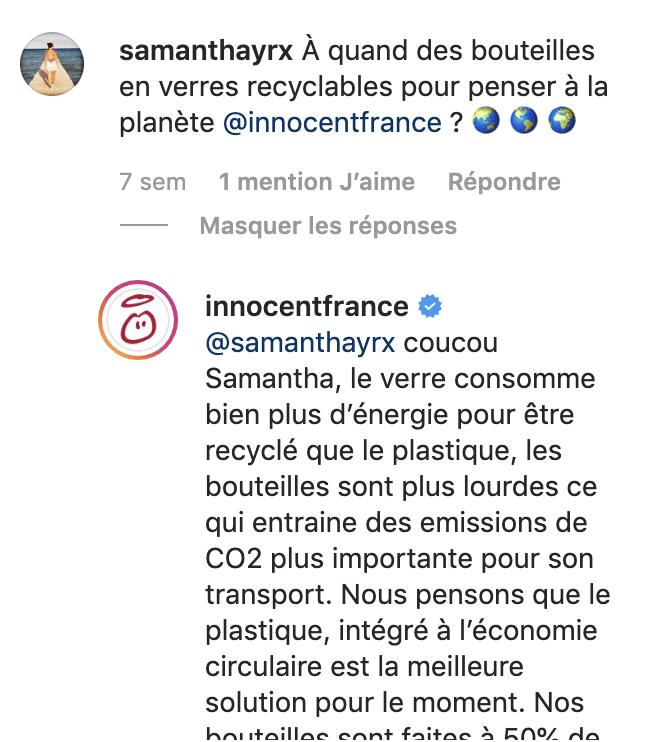 commentaires Instagram