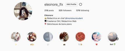 story à la une sur Instagram