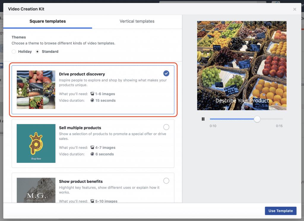 contenu video facebook