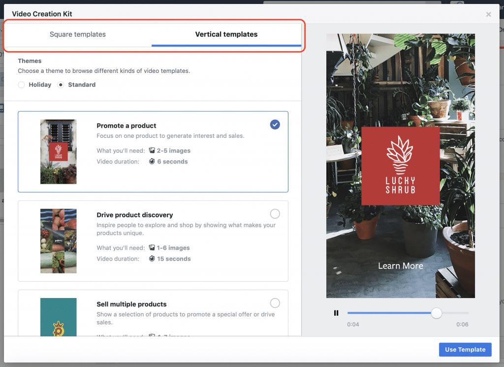 publicité video Facebook