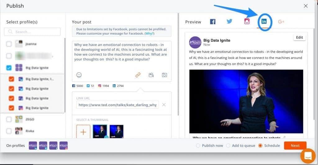 crossposting création contenu LinkedIn