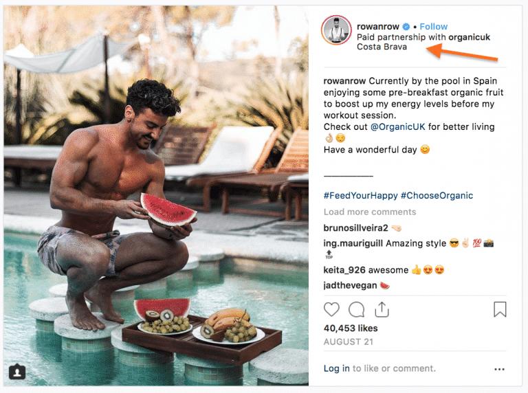 instagram partenariat rémunéré