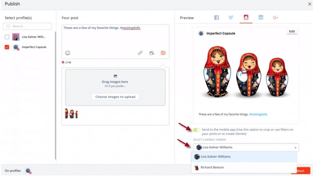 planifier les notifications push dans Agorapulse