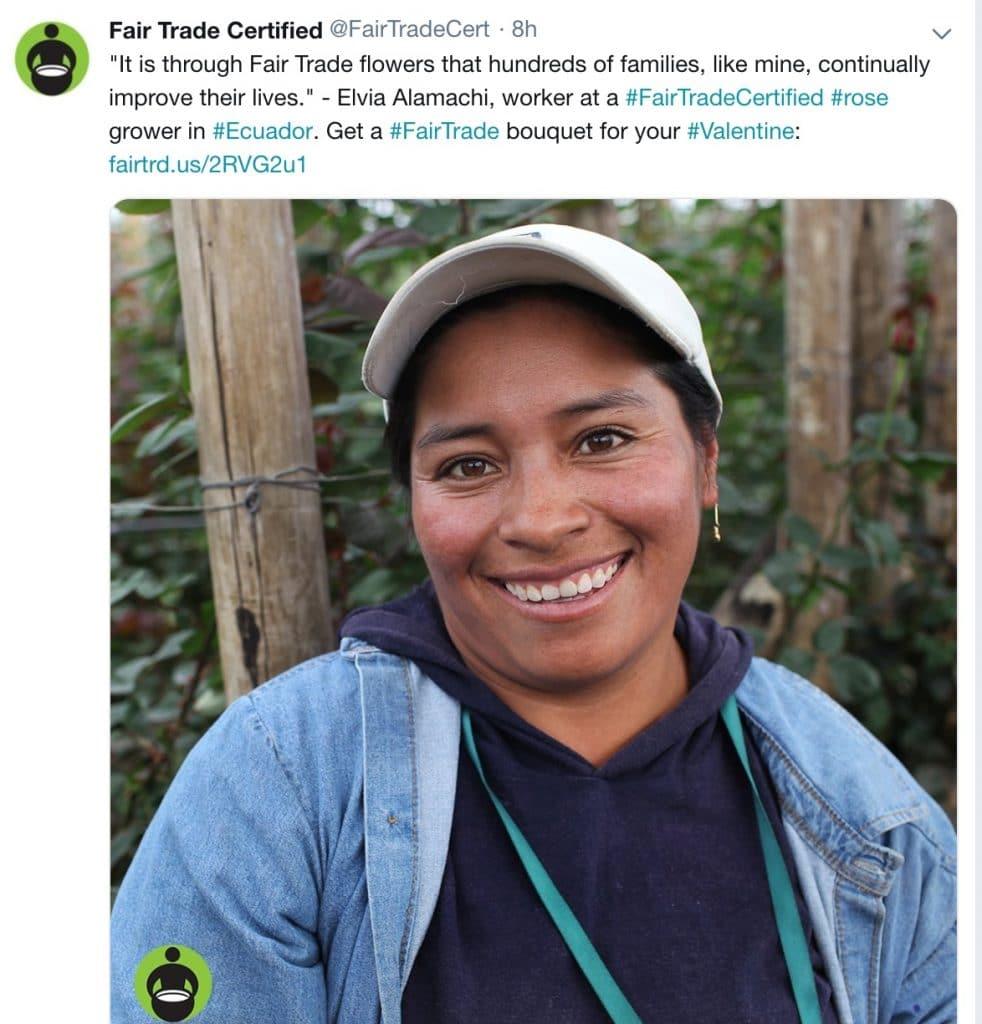 photo d'un organisme à but non lucratif partageant une victoire sur Twitter
